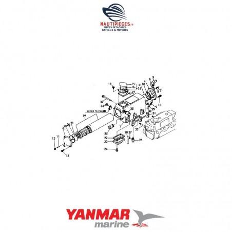 728390-44500 échangeur eau complet moteur diesel YANMAR MARINE 128390-44900