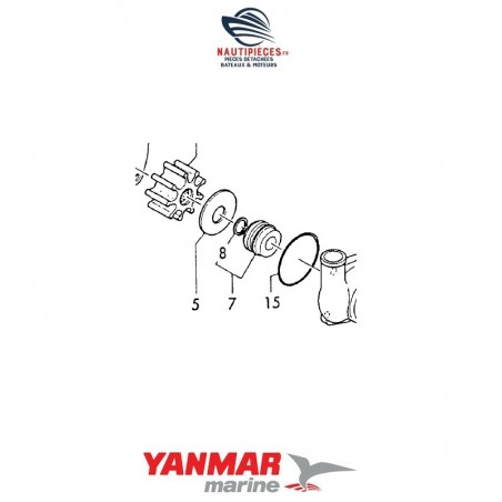 129795-42670 garniture mécanique cyclam pompe eau mer YANMAR MARINE 3JH2 4JH 4JH2