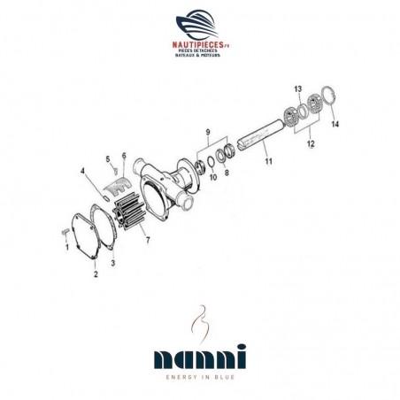 970303692 roulement pompe eau de mer moteur NANNI DIESEL