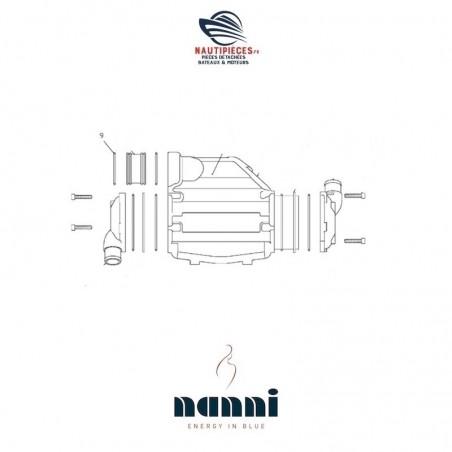 48418164 joint torique échangeur eau air suralimentation moteur NANNI DIESEL 4.380TDI 4.390TDI T4.155 T4.165 T4.180 T4.200