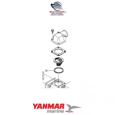 129150-13110 joint inférieur thermostat ORIGINE moteur YANMAR MARINE 4LH-TE 4LH-DTE 4LH-STE 4LH-HTE 4LHA-DTE 4LHA-HTE 4LHA-STE