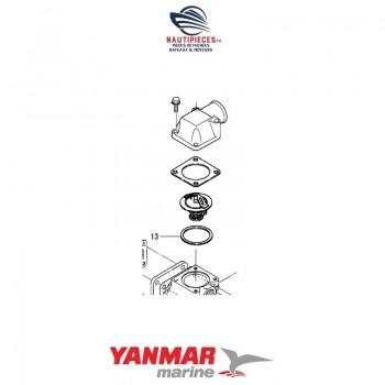 121850-49540 joint couvercle thermostat ORIGINE moteur YANMAR MARINE 4LH-TE 4LH-DTE 4LH-STE 4LH-HTE 4LHA-DTE 4LHA-HTE 4LHA-STE