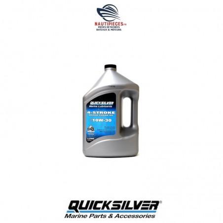 8M0086221 bidon huile minérale 4 litres 10W30 QUICKSILVER 858046QE1