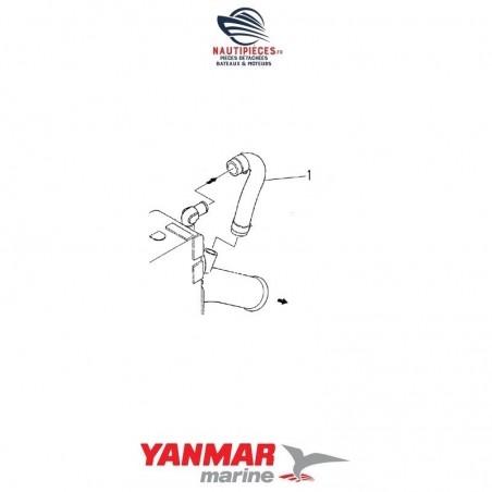 124770-49040 durite coude échappement YANMAR MARINE 2GM 2GM20 3GM 3GM30