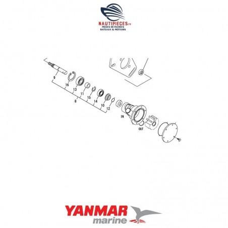 128990-42560 kit réparation arbre pompe eau mer moteur diesel YANMAR MARINE 2YM15 3YM20 3YM30 2GM20 3GM30 3YM30AE