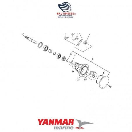 128990-42550 kit réparation étanchéité pompe eau mer moteur diesel YANMAR MARINE 2YM15 3YM20 3YM30 2GM20 3GM30 3YM30AE