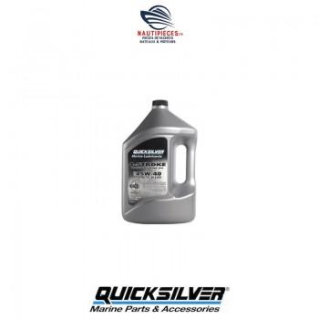 8M0086227 huile synthétique 25W40 QUICKSILVER moteur 4 temps EFI BIDON 4 LITRES 858053QE1