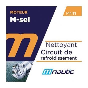 MN11 bidon 1 litre nettoyant circuit refroidissement mit sel moteur bateau M NAUTIC stopsel rcw hivernage pro anti sel désallant