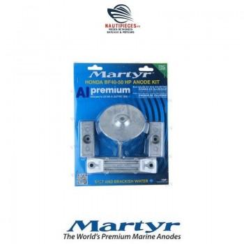 CMHBF4050KITA kit anodes aluminium MARTYR moteur hors-bord HONDA MARINE BF40 BF50