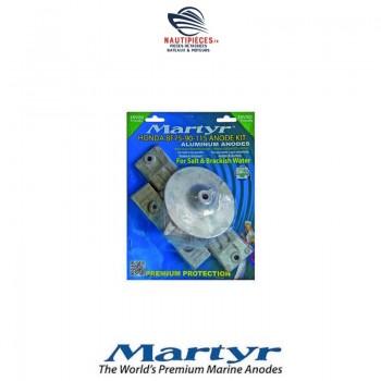 CMHBF75115KITA kit anodes aluminium MARTYR moteur hors-bord HONDA MARINE BF75 BF90 BF115