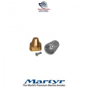 CMLAEC3250 Ecrou porte anode RADICE complet arbre hélice standard ISO 25MM filetage M16*150 MARTYR TECNOSEAL 00410