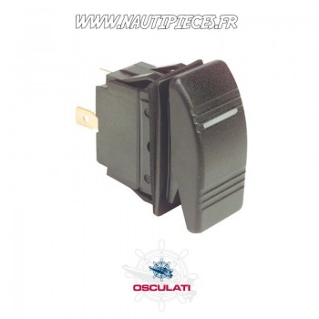 14.196.02 Interrupteur à bascule étanche IP56 OFF / MOM 12V avec éclairage LED OSCULATI MARINA