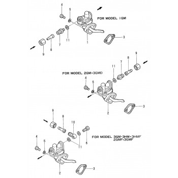 121520-01850 Joint pompe alimentation YANMAR marine GM / HM 121520-01851