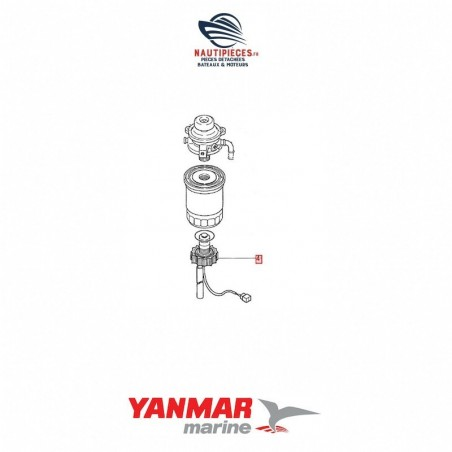 129574-55730 sonde présence d'eau alarme moteur diesel YANMAR MARINE 4JH2-UTE 4JH3-TE 4JH3-TCE 4JH4-TE 4JH4-HTE 4JH4-HTE