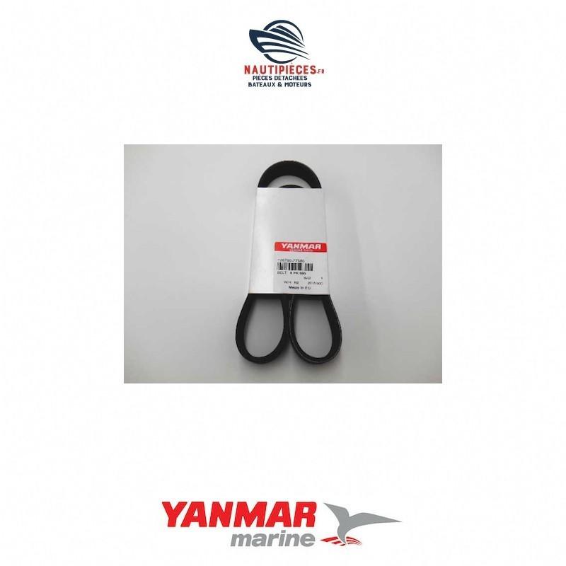 Courroie alternateur YANMAR MARINE 128790-77580 2YM15 3YM20 pour moteurs équipés d'un alternateur VALEO 120 amp