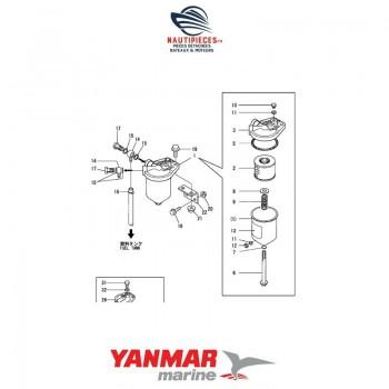Préfiltre séparateur eau/gasoil