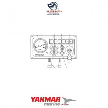 129171-91191 tableau d'instrumentation type B moteur YANMAR MARINE 3JH2 3JH2E 3JH2BE