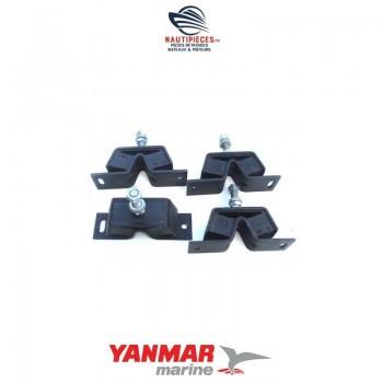 Jeu de 4 supports moteur origine YANMAR MARINE 1GM 1GM10 128170-08350 128170-08340