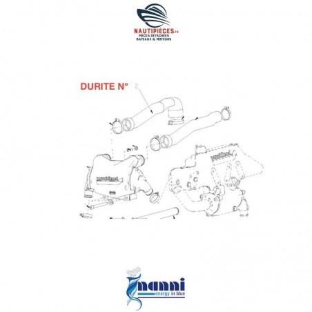 48328165 durite intercooler admission ORIGINE moteur NANNI DIESEL N4.100