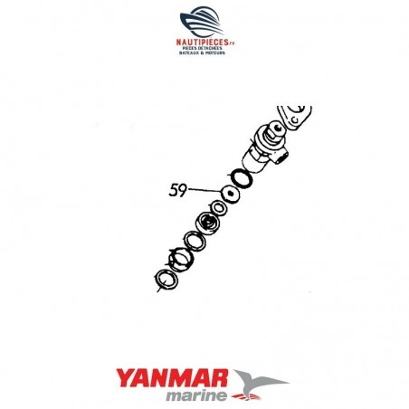 128275-11500 joint injecteur ORIGINE moteur diesel YANMAR MARINE GM